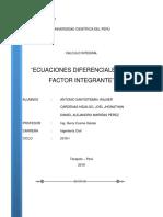 Trabajo No 5 Ecuaciones Diferenciales Con Factores Integrantes