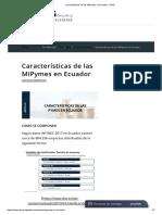 Características de Las MiPymes en Ecuador – DSG