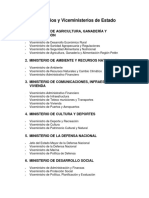 Ministerios y Viceministerios de Guatemala