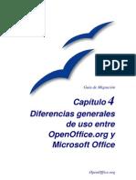Diferencias Entre Open Office y MSOffice
