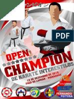 Convite Open Champion 2019