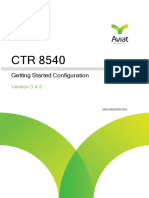 CTR 8540 3.4.0 Getting Started Configuration_June2017