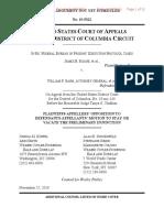 DC Cir - Fed Exec - Opp To DOJ Stay Motion