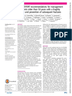 EULAR Recommendations for prevention and management of osteoporotic fractures