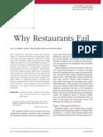 Why Restaurants Fail Cornell University