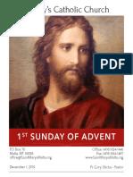 Bulletin for December 1, 2019