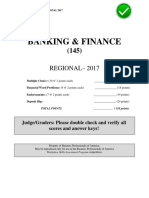 2017 Region Banking Finance Test Key