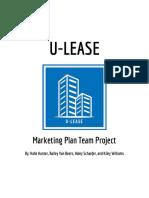 marketing 4000 group project  u-lease