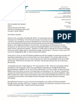 Letter to Mayor Kirk Caldwell - P3 Procurement