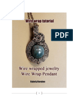 Wire Wrapped Pendant. Wire Wrap Tutorial.