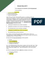 Answer Key of Unit 1.Docx