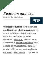 Reacción Química - Wikipedia, La Enciclopedia Libre
