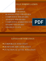 Lecture 4 Strategy Formulation