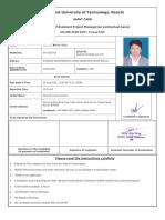 Juidco Admit Card