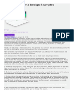 Database Design Schema