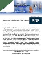 Bridge Medical Research Foundation - HIVAIDS & Malaria Prevention Letter