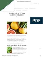 Árboles Frutales Para Jardines Pequeños - El Horticultor