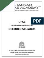 UPSC Decoding Syllabus Www.iasparliament.com
