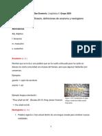Definiciones para glosario de Lingüística