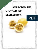 Elaboracion Del Nectar de Maracuya