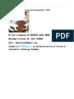 Environmental Management - CE355