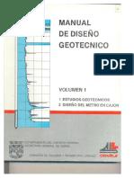 Manual de Diseño geotécnico