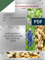 Extracción y Caracterización Del Aceite de Tarwi (1)