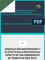 MODIFICACIÓN MARTEMPERING