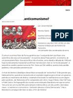 Autocrítica Ou Anticomunismo_ – PCB – Partido Comunista Brasileiro