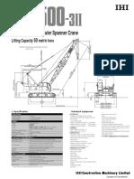 Ihi Crawler Cranes Spec Cch500 3ii