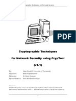 Cryptographic Techniques with Crypttool