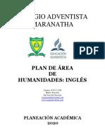 PLAN DE AREA DE INGLES