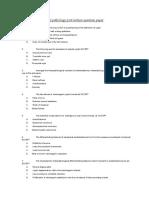 Oral Pathology Post Lecture Question Paper