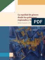 La Equidad de Genero Desde Los Gobiernos Regionales y Locales