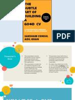 The art of building a good CV