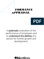 Performance Appraisal - Report