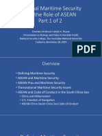 Thayer Regional Maritime Security and the Role of ASEAN, Pt. 1