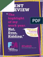 FoM19 Event Preview