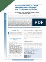 Preformulation Material