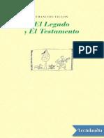 El Legado y El Testamento - Francois Villon