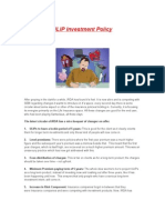 ULIP Investment Policy