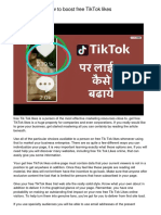 Click and learn how to boost free TikTok likes