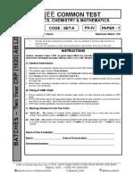 Jee advanced sample paper