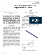 Design of Slotted Waveguide Antenna for Radar Applications at x Band  using Matlab