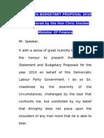 Barbados Budgetary  Proposal 2010