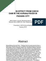 Vibration Effect From Check Dam in the Kuranji