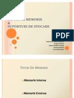 Proiect - Tipuri de Memorie Si Unitati de Stocare