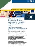 ¿Cómo conseguir la exención del módulo profesional de Formación en Centros de Trabajo (FCT)? - TodoF