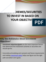 What Schemes and Securities to Invest in Based on Your Objectives