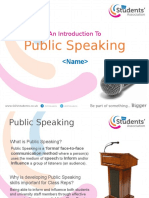 An Introduction To Public Speaking Training Session.pptx